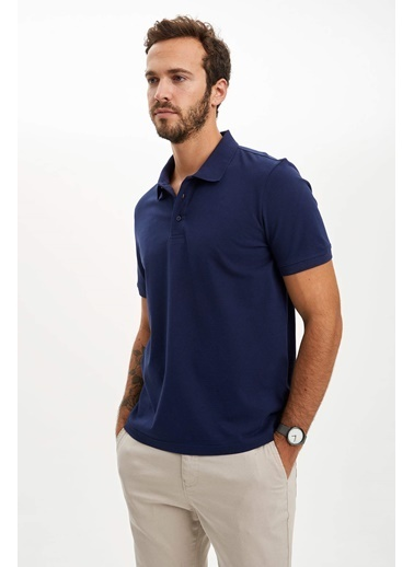 DeFacto Polo Yaka Regular Fit T-Shirt Lacivert
